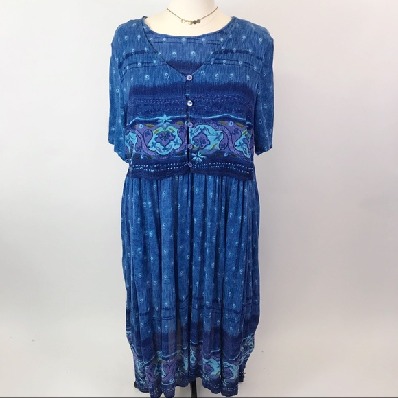 Chelsea Studio Dresses & Skirts - Chelsea Studio Guaze Blue  print dress 24